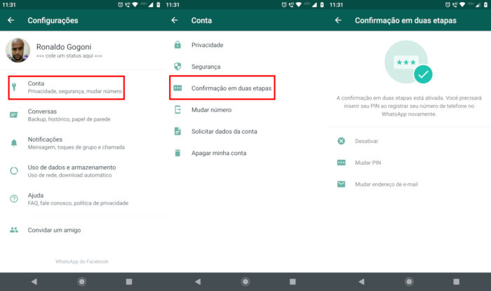 WhatsApp / sim swap