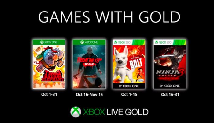 jogos grátis do xbox live gold de outubro de 2019