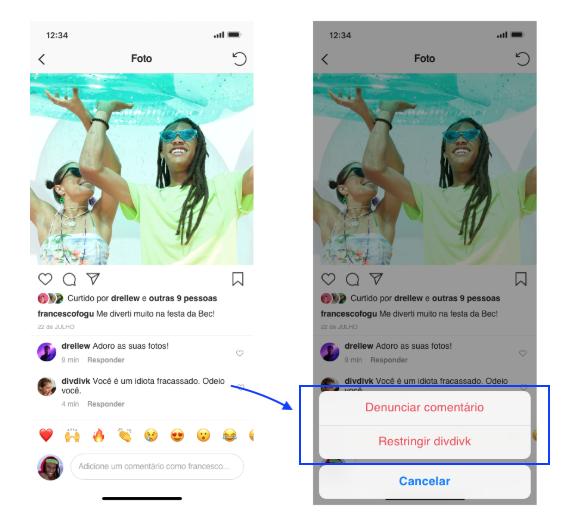 Como Restringir no Instagram