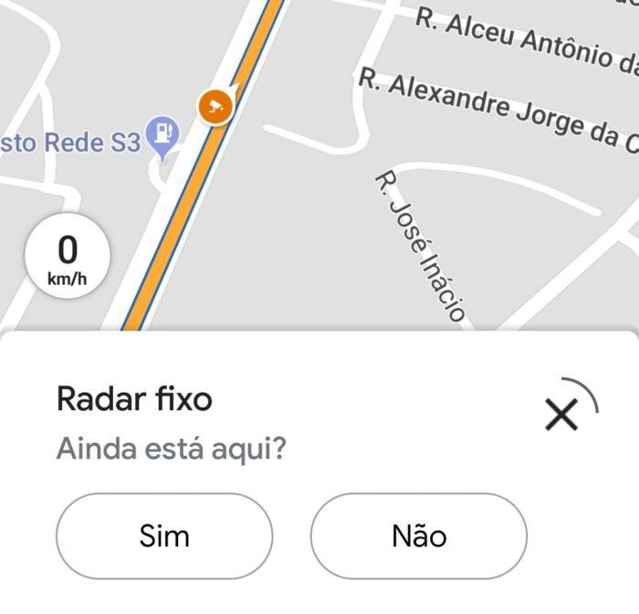 Google maps alerta confirma