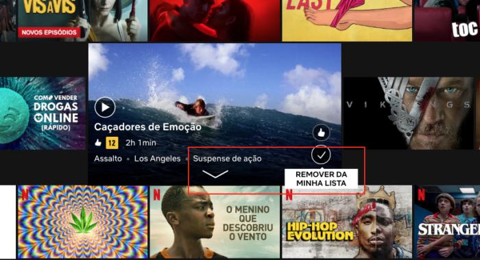 Minha Lista Netflix - Remover