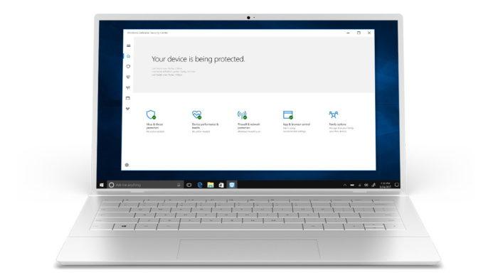 Windows  الدفاع على الكمبيوتر المحمول مع Windows 10