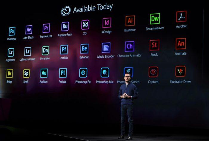 Scott Belsky, chefe de produto da Adobe, em evento realizado em 2018 (Foto: Divulgação)