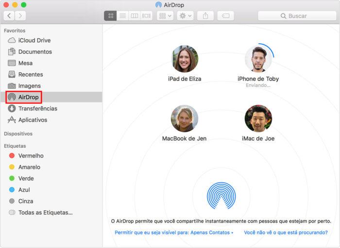 Apple / AirDrop no macOS / o que é airdrop