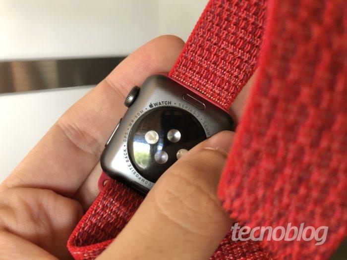 Indicativo de resistência à água do Apple Watch Series 3