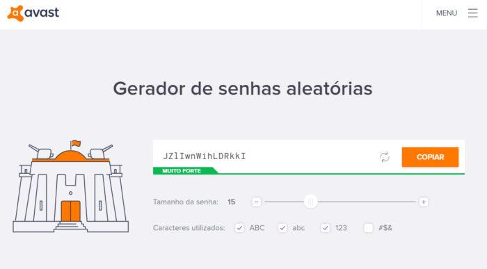 Avast / gerador de senha