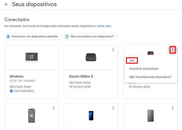 Conta do Google / como desconectar minha conta do google de outro celular