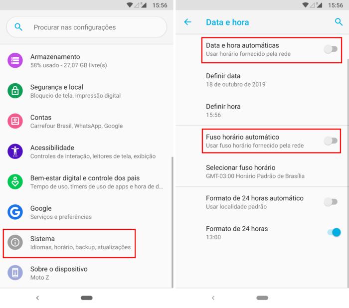 Data e hora no Android