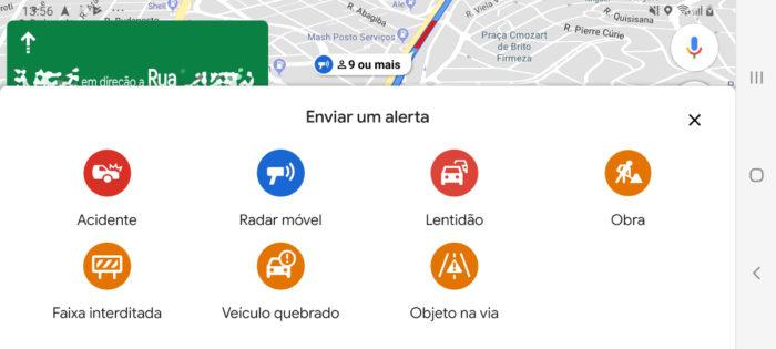 google maps acidentes android deitado