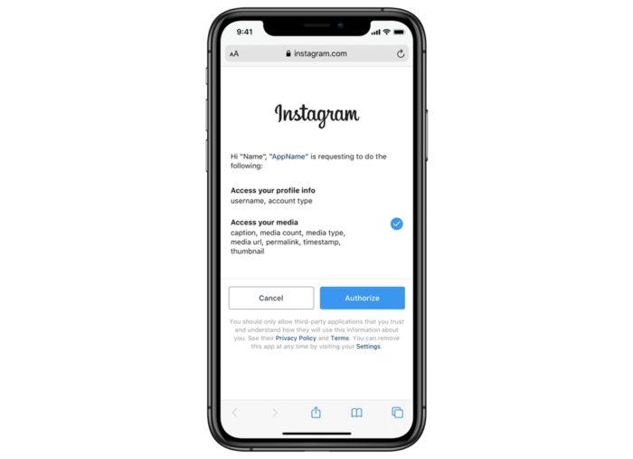 Bloqueio de apps no Instagram
