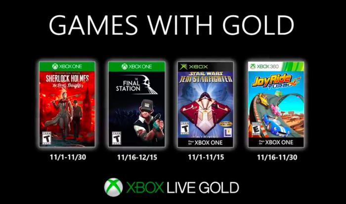 jogos grátis para xbox em novembro