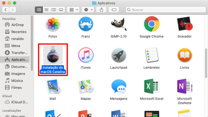 Finder / macOS Catalina