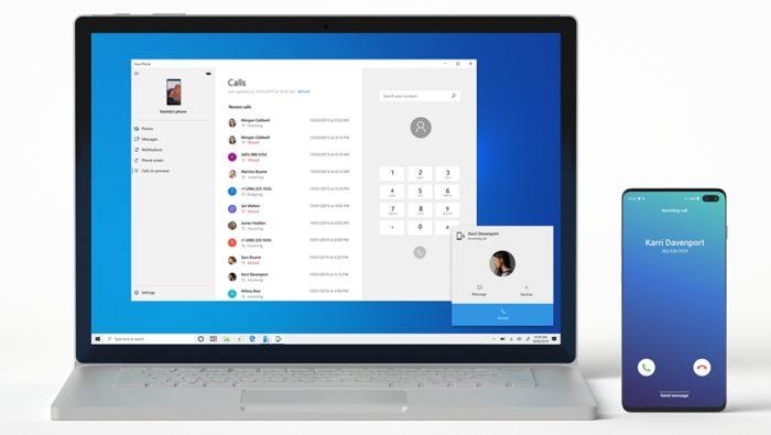 Microsoft Seu Telefone - chamadas