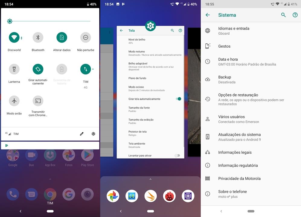 Motorola Moto E6 Plus - interface