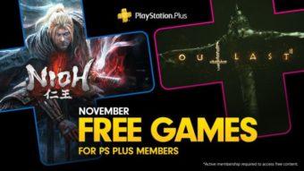 Jogos grátis da PlayStation Plus em novembro: Nioh e Outlast 2