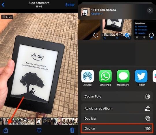 Ocultar fotos no iPhone (Imagem: Reprodução/Apple)