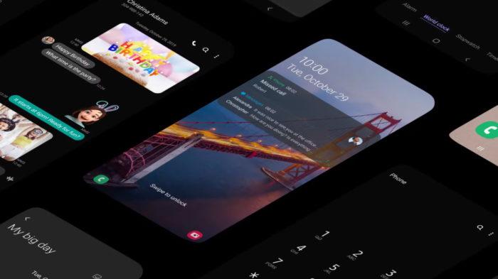 Samsung One UI 2.0 com modo noturno