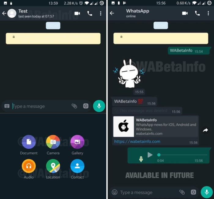 WhatsApp no modo noturno do Android