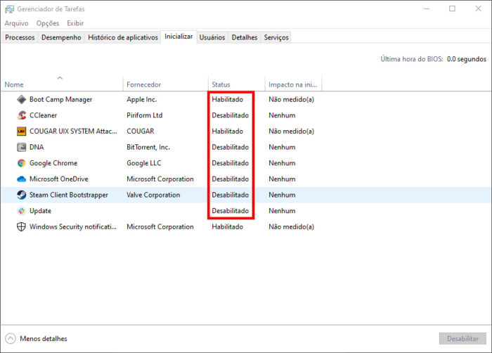 Windows 10 / ponteiro do mouse sumiu