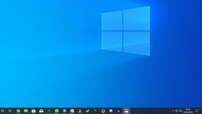 Microsoft / Windows 10 / barra de tarefas sumiu