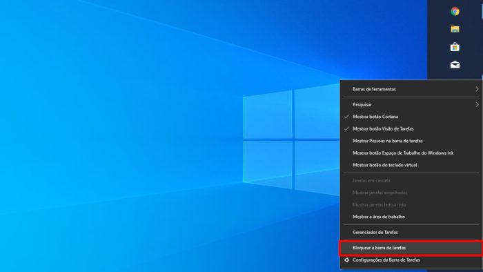 Microsoft / Windows 10 / barra de tarefas