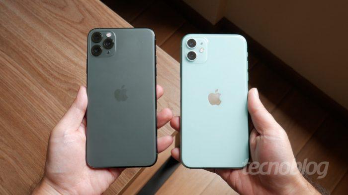 Apple iPhone 11 e 11 Pro Max (Imagem: Paulo Higa/Tecnoblog)