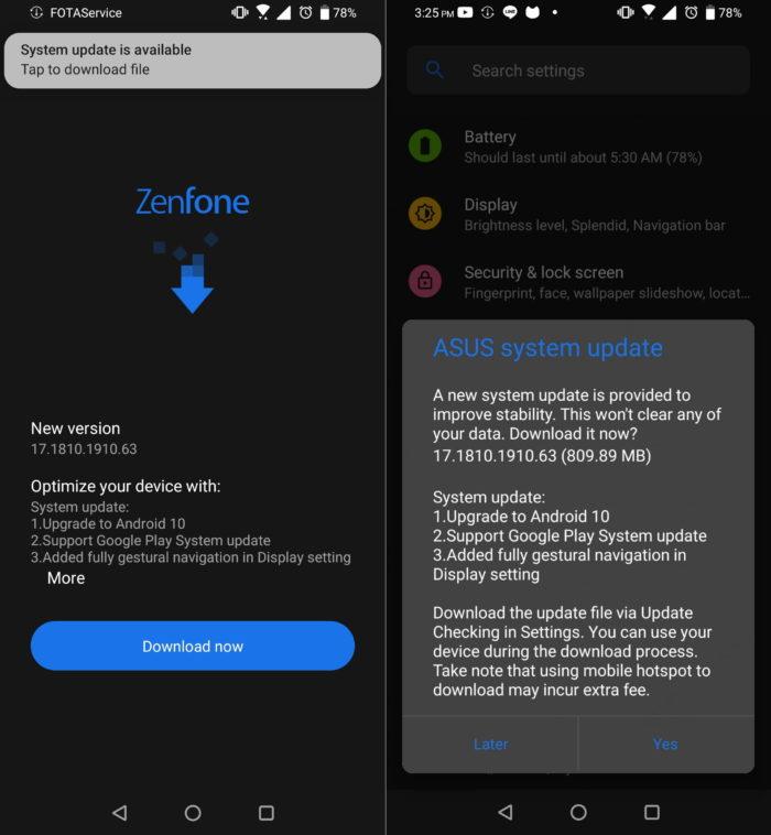 Asus Zenfone 6 Android 10