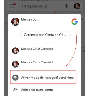 Ativar Modo de Navegecao Anonima no Google Maps