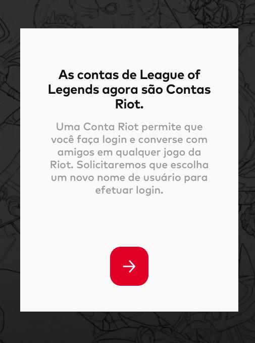 atualizar conta do LoL para conta Riot