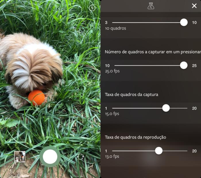 configurações do aplicativo boomerang do Instagram