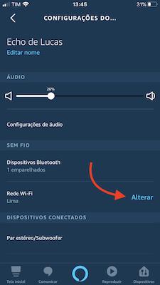 tela para configurar nova rede wi-fi