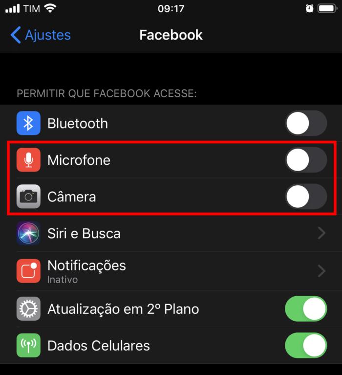 Facebook no iPhone