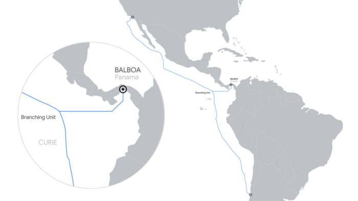 Cabo submarino Curie do Google
