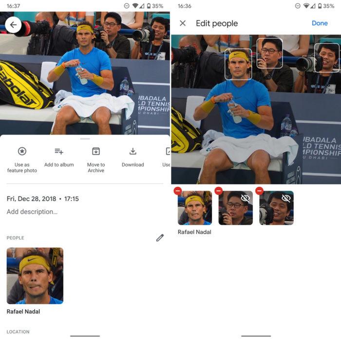 Google Fotos permite marcar rostos de pessoas manualmente