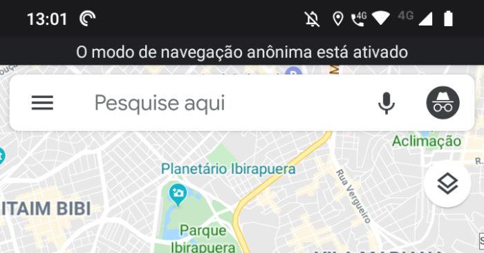 google maps modo anonimo