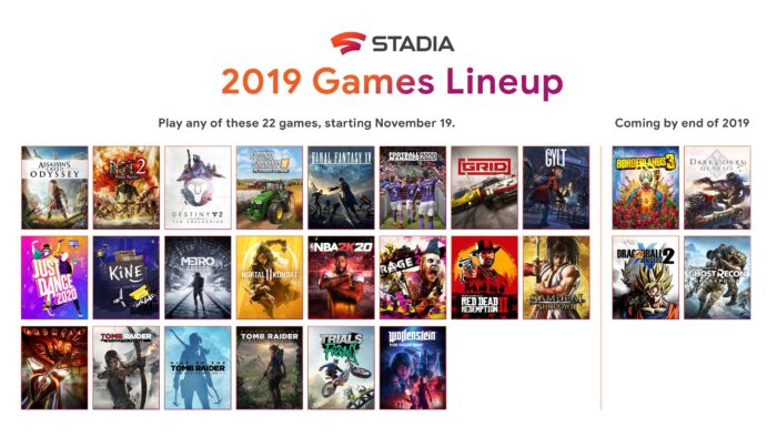 Google Stadia - lineup