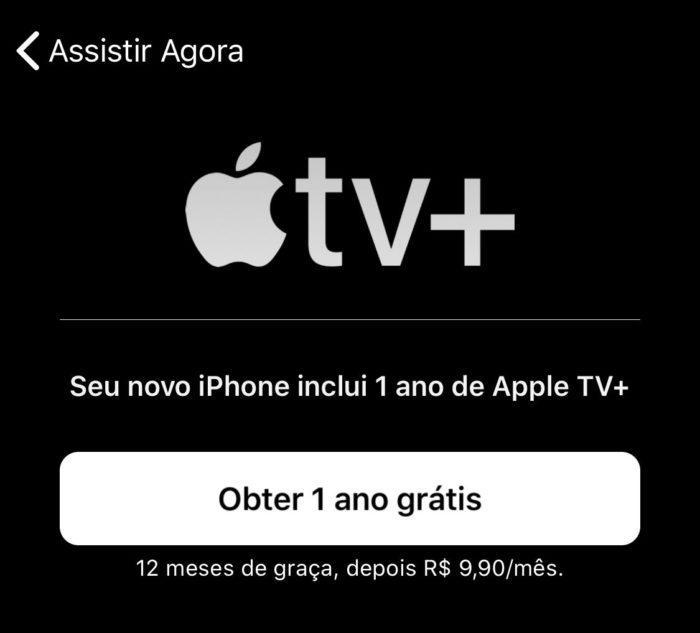 Apple TV+ obter 1 ano grátis