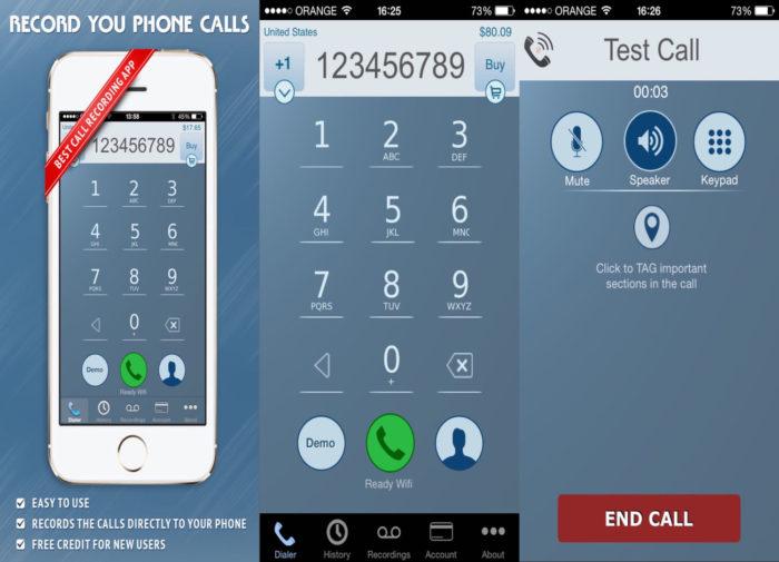 iPhone / IntCall / gravador de chamadas