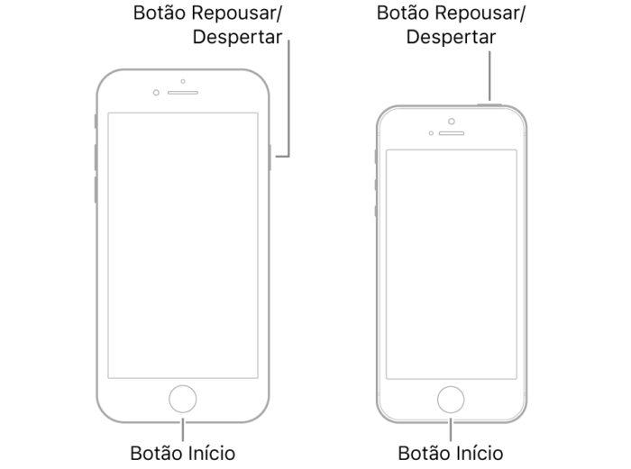 Apple / iPhone 6s e SE / como reiniciar iphone