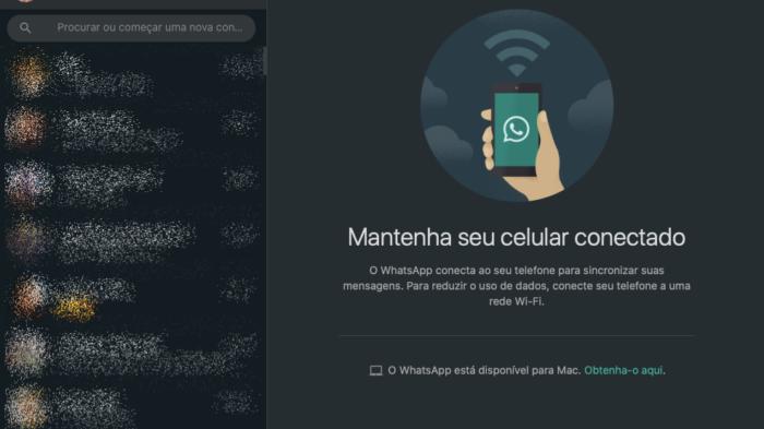 modo escuro no whatsapp web