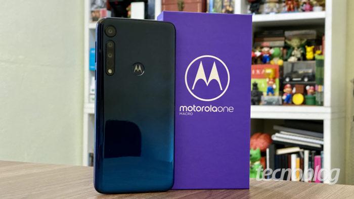 Motorola One Macro (Imagem: André Fogaça/Tecnoblog)
