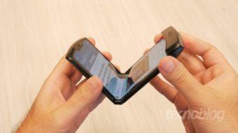 Novo Motorola Razr dobrável deve vir com 5G e câmera de 48 MP