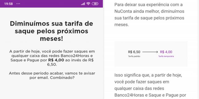 Saque na NuConta do Nubank