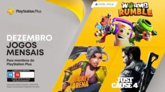 PS Plus de dezembro traz Worms Rumble para PS4 e PS5 e outros jogos