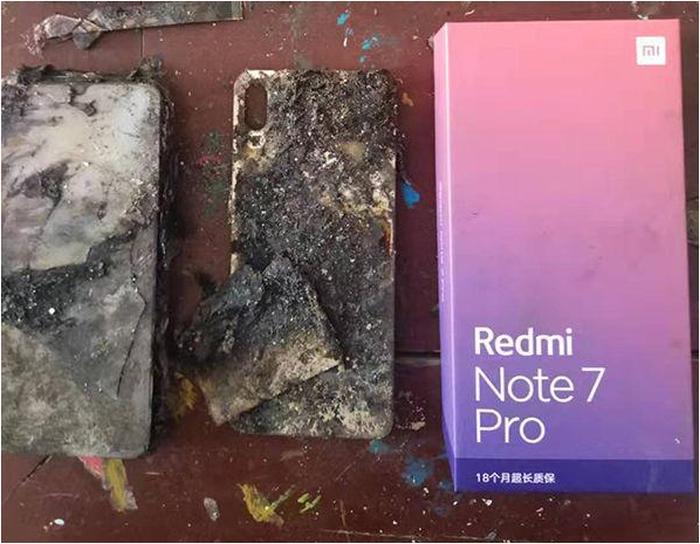 Redmi Note 7 Pro incendiado