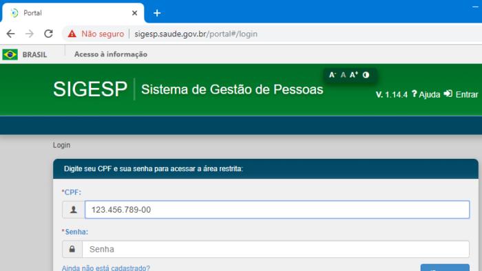 SIGESP sem HTTPS