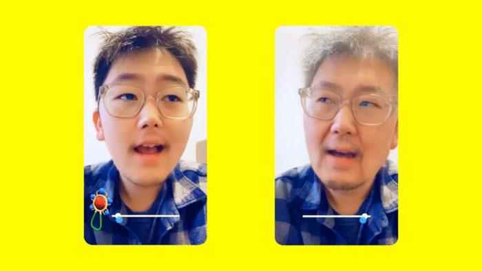 Filtro máquina do tempo (Time Machine) do Snapchat