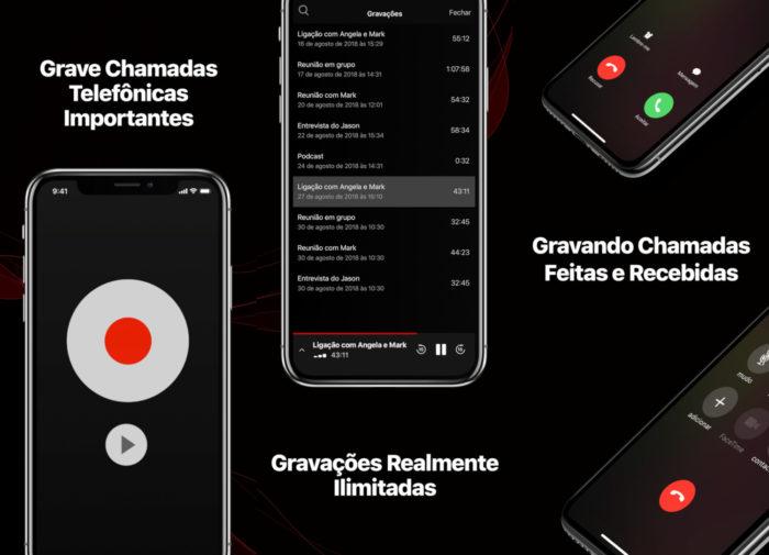 iPhone / TapeACall Pro / gravador de chamadas