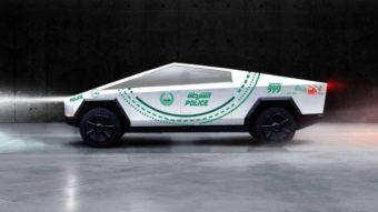 Polícia de Dubai quer incluir Tesla Cybertruck em sua frota
