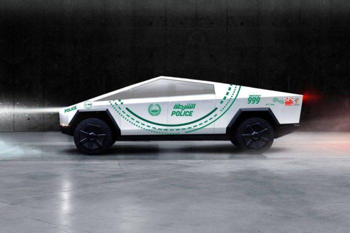 Tesla Cybertruck - polícia de Dubai
